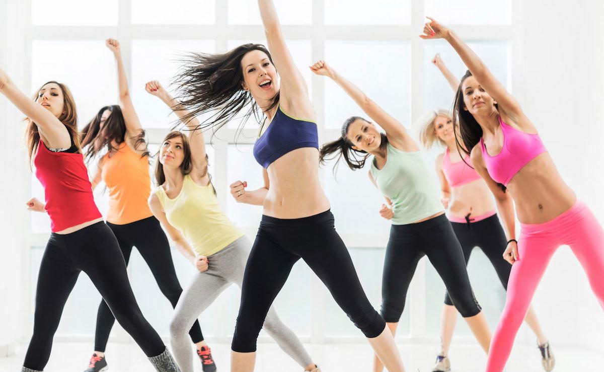 Women dancing.